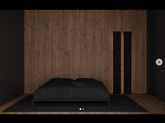 Wood panelling and black sheets